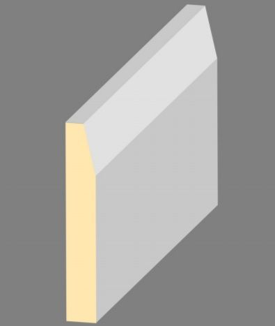 119 x 019 x 4.4MT PRIMED MDF BEVELLED ARCHITRAVE / SKIRTING