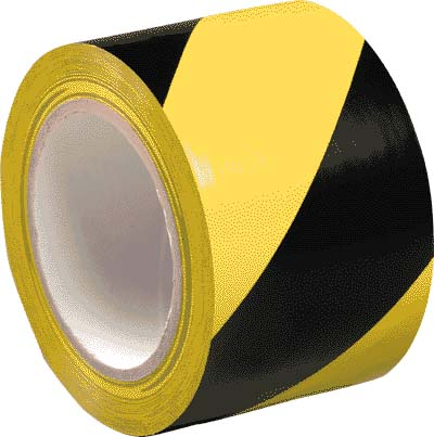 HAZARD WARNING TAPE SELF ADHESIVE YELLOW & BLACK 33MT