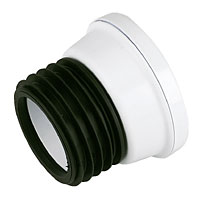 WHITE STRAIGHT WC PAN  CONNECTOR  62035007