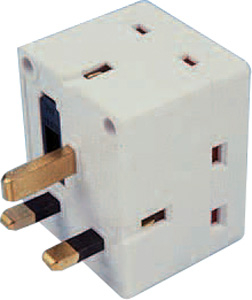 ADAPTOR 3 WAY 13 AMP (FUSED) BB-PA100