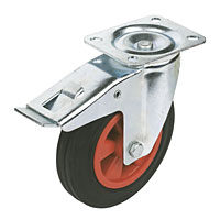 CASTOR SWIVEL TYPE BRAKED 75MM 9022075