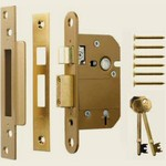 SASH LOCK VISCOUNT 5 LEVER BRASS 2.5in 202-32 ERA