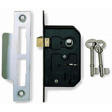 SASH LOCK ECONOMY 3 LEVER BRASS 2.5in 473-32 ERA