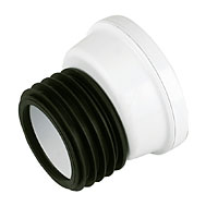 WHITE OFFSET WC PAN CONNECTOR 62035014