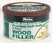 METOLUX 2 PART H/P WOOD FILLER LIGHT STAINABLE 500gram