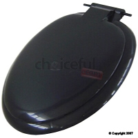 TOILET SEAT & COVER BLACK PLASTIC CASTLE